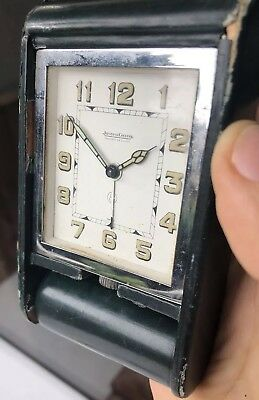 Jaeger LeCoultre 8 Day's Alarm Clock For Repair Or Parts