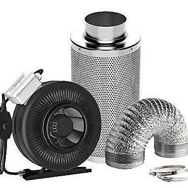 "8"" inch inline fan & carbon air filter combo ventilation High cfm"