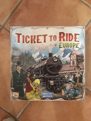 Ticket to ride board game europe  days of wonder Brand New! Used Once
