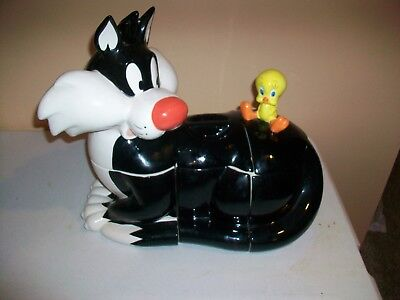Tweety And Sylvester Canister Set - Six Flags / Warner Bros. 1996