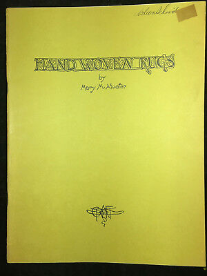 1948 Hand Woven Rugs By Mary Meigs Atwater. 28 Pages