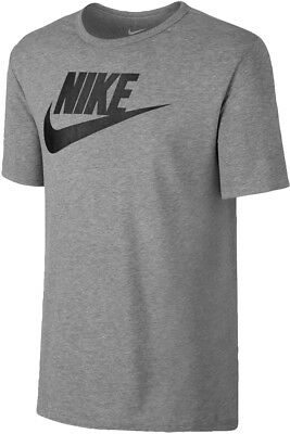 721824e28 NIKE FUTURA MEN'S Icon Ribbed Crew Neck T-Shirt Grey/Black 696707 ...
