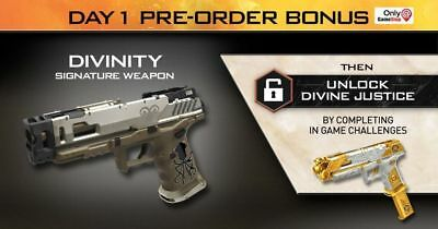 Call Of Duty Black Ops 4 Divinity Gun (PS4 XBONE PC) Pre order Bonus Gamestop
