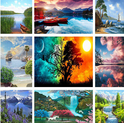 Natural Scenery Paint By Number Kit Digital DIY Oil Painting Art Wall Home Decor