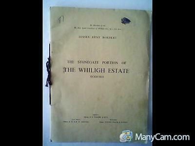 Sale Particulars For The Stonegate Portion Of The Whiligh Estate In 1949