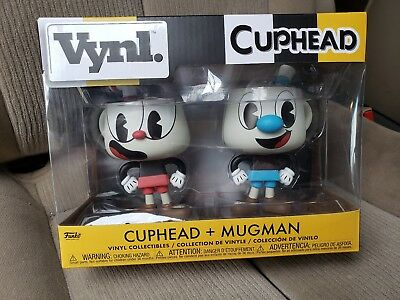 Funko Cuphead Vynl Cuphead Mughead Figure Set NEW Toys IN STOCK Collectibles