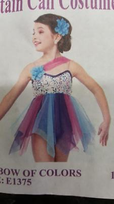 Dance Costume Medium Child Purple Pink Lyrical Ballet GROUP Competition Pageant