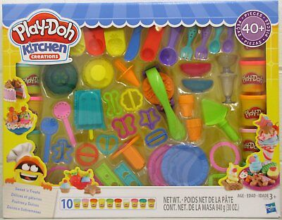 New Play Doh Kitchen Creations Set 40 Pieces 10 Cans Of Playdoh