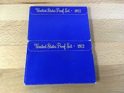 1972 United States Mint Proof Set -Lot of Two- (5 Coins Each) Original Packaging