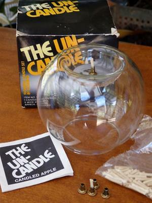 "RETRO 70s VINTAGE Pyrex Corning GLASS CANDLE Oil BURNER ""The Un-Candle"" Diffuser"
