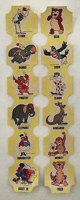 1950s 2 Strips DISNEY Advertising 12 BREAD ENDS Vintage Orginl DUMBO Crow CIRCUS