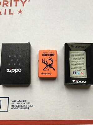 "Snap On ""Deer Camp"" Boxed Zippo Lighter"