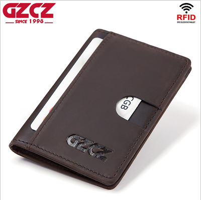 Men Genuine Leather Cowhide Wallet Credit Card ID Card Case Holder Purse New