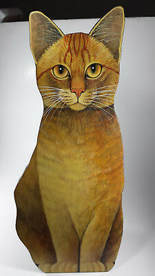 Wooden Cat Decoration 16 Inches Tall