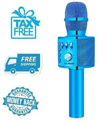 New Blue Wireless Bluetooth Karaoke Microphone Portable Home Party Pro Music Mic