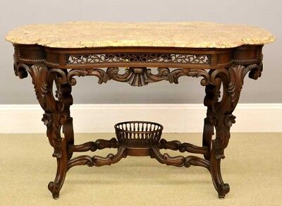 Exceptionally Rare J & J W Meeks Victorian Parlor table