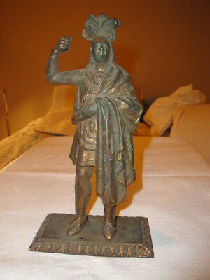 Rare Antique Indian Native American Bronze Brass Statue