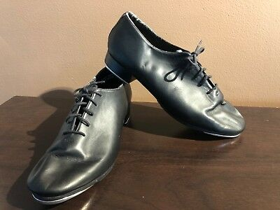 Leo's Giordano #5028 Tap Black Leather Dance Shoes Ultra Tone Size 11.5 W Wide