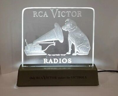 RCA Victor Radios lighted counter sign His Master's Voice Nipper Vintage
