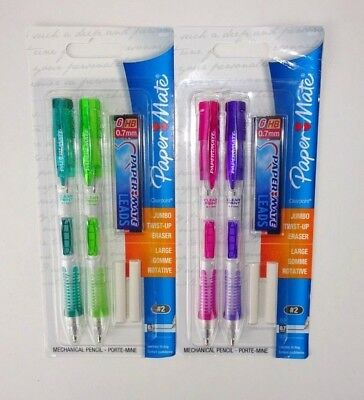 Paper Mate Clear Point Mechanical Pencil 2 packs 0.7mm #2 Brand New