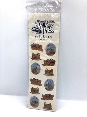 Longaberger Basket Stickers Village Press Sea Beach Ocean Themed New NWT Sealed