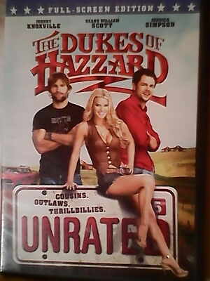 The Dukes of Hazzard (DVD, 2005, Unrated, Full Frame Edition) Knoxville Used