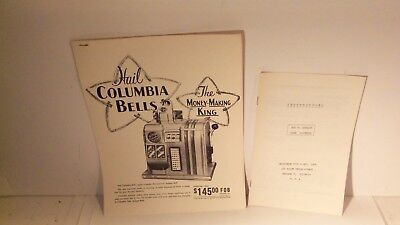 Columbia  Booklet/Manuals --Originals  A PAIR !