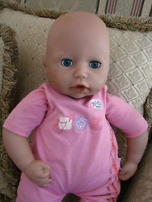 "Zapf Creation 2007 Interactive Baby Born Doll, 46cm / 18"". used. GC."