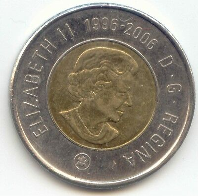 Canada 1996 - 2006 Toonie Canadian $2 Dollars Twoonie Two Dollar DOUBLE DATE