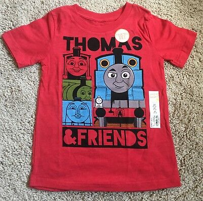 NWT Boys Size 4T Thomas The Train & Friends Short Sleeve T Shirt Tee Red