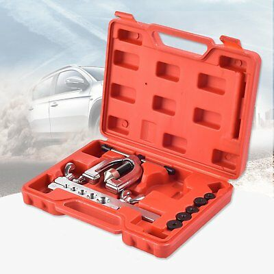 Auto Double Flaring Brake Line & Air Conditioning Tool Kit Car Truck US MA