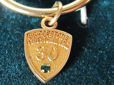 Firestone Bridgestone Tire Co Decatur Il 30 Year Service Charm 1/10 10K Gold