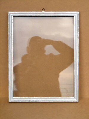 Old Antique Wooden Photo Frame  Vintage Wall Hanger Hand Made 60s