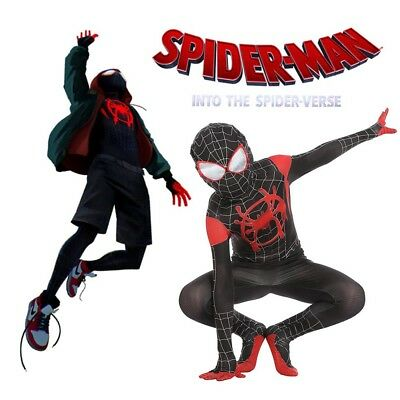 Us Spider Man Into The Spider Verse Miles Morales Kids Cosplay
