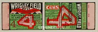 6 1929-32-35 WORLD SERIES VINTAGE UNUSED FULL TICKETS CHICAGO CUBS reprints