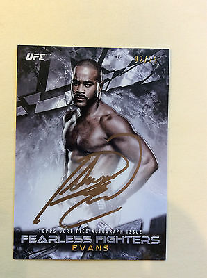 RASHAD EVANS 2017 UFC Knockout Fearless Fighters AUTO Autograph Card 02/25
