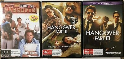 The Hangover Trilogy [R18+ / MA15+] (3 DVD, 2009/2011/2013, R4)