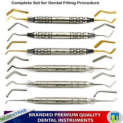 Dental Composite Anterior Posterior Filling Restoration Scalers Coated Spatula