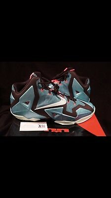 3151ee5c28e Nike LeBron XI South Beach Turquoise Black Mint Pink SB 11 8 VIII Miami  Heat LE