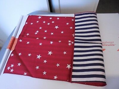 Longaberger 1993 STARS & STRIPES REVERSIBLE PLACEMATS Set of 2 New