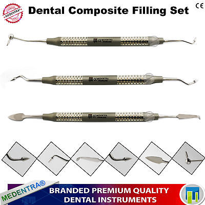 Dental Composite Anterior Posterior Filling Placement Condenser Plugger Spatulas