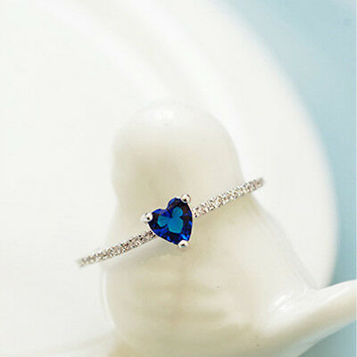 Love Heart Shape Sparkling Rhinestone Ring For Festival Wedding Party one