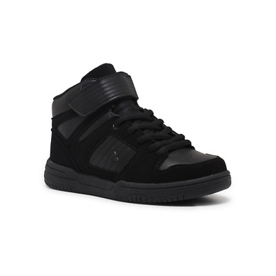 Unisex Children Aerosport Slam Hi-top Youth Black Casual Sneakers Boots Shoes