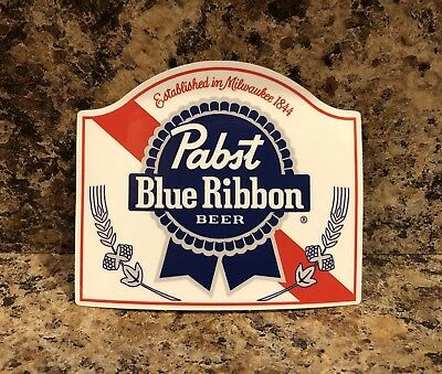 New Pabst Blue Ribbon Beer Sticker Decal Car Truck Window Laptop PBR Brew Red
