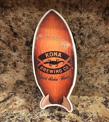 Kona Brewing Co Brewery Hawaii Longboard Lager Decal Sticker Craft Beer Surf New