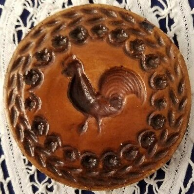 CERAMIC Springerle Butter Cookie Paper Print Stamp Press Mold STRUTTING ROOSTER