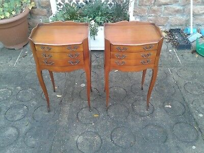 French antique vintage Louis Philippe style bedside tables