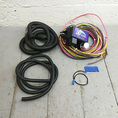 18 CIRCUIT UNIVERSAL WIRE HARNESS rat rod street wiring kits, electrical components, auto performance parts