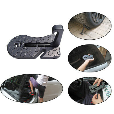 Car Doorstep Rooftop Folding Ladder Foot Pegs Hooked for Jeep, SUV, Off-Road