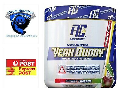 Ronnie Coleman Yeah Buddy Pre-Workout 30 Serves Free Express Post